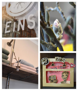Collage von bildern vom Shop EINS in Hannover
