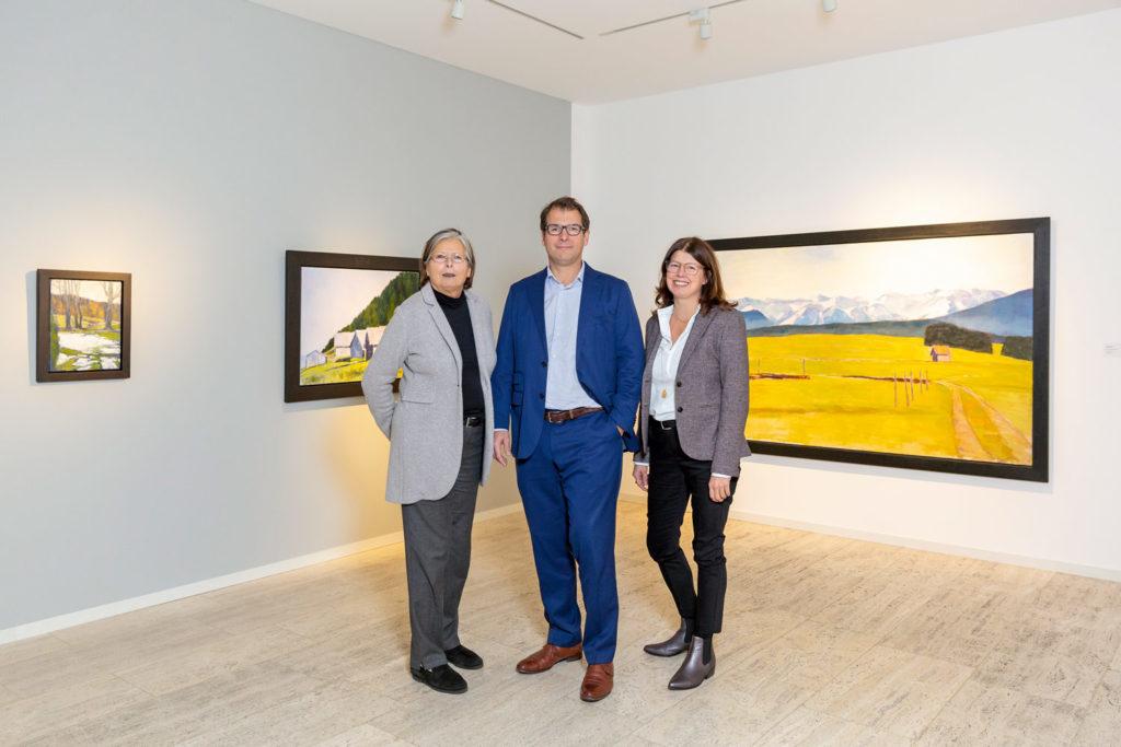 Das engagierte Team der Galerie Koch von links: Angelika Koch, Ole-Christian Koch, Petra Koch