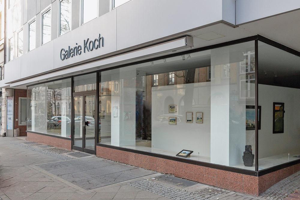 Blick in die Galerieräume der GALERIE KOCH