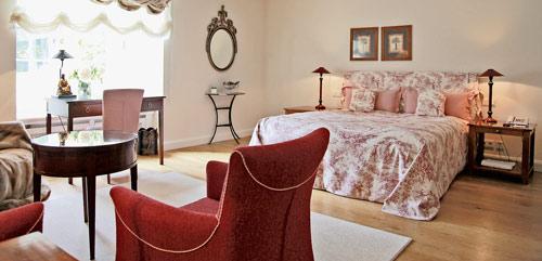 Innenansicht eines Zimmers im Schlosshotel Münchahusen