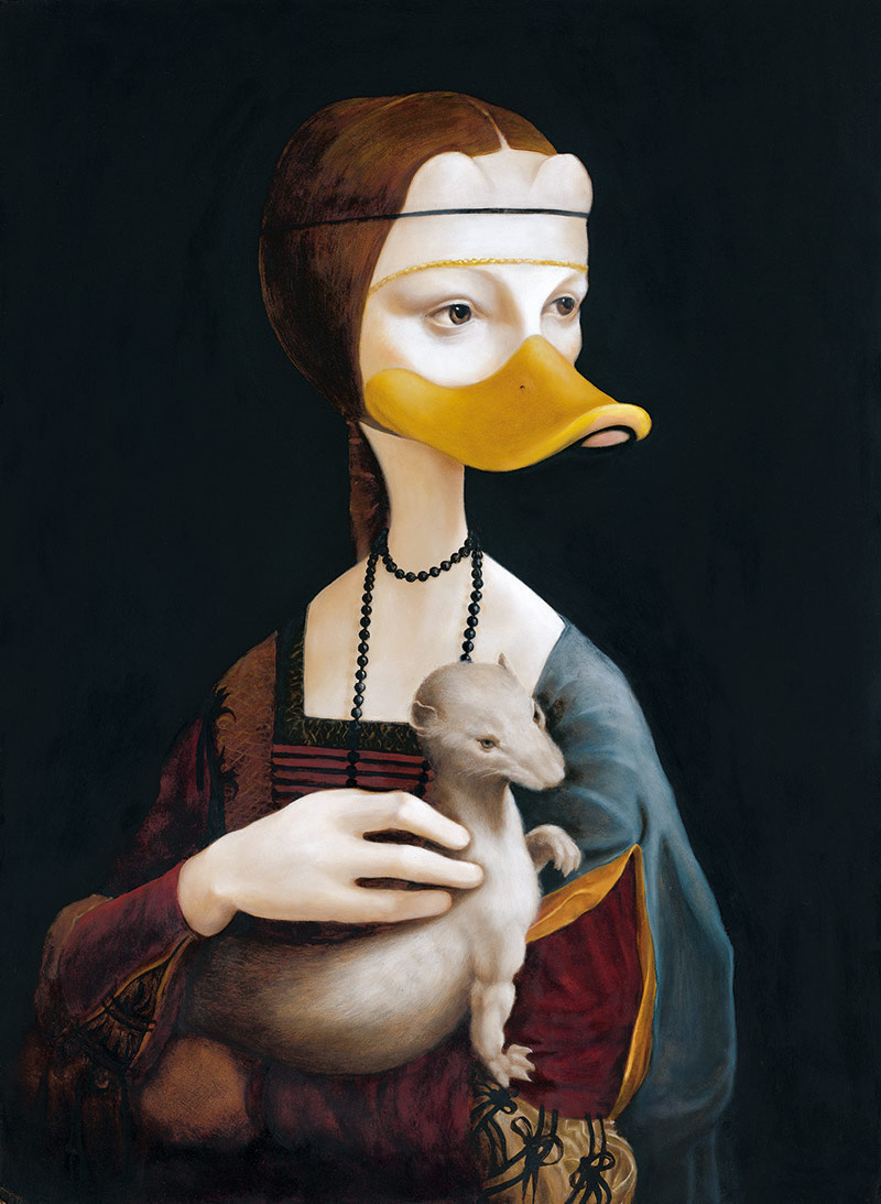 Die Ente mit dem Frettchen - gezeigt auf der Documenta im Landesmuseum Hannover