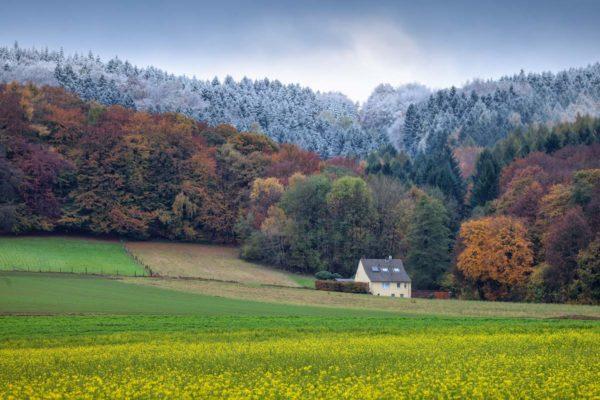 Aussicht zu den Dörfern im Teutoburger Wald