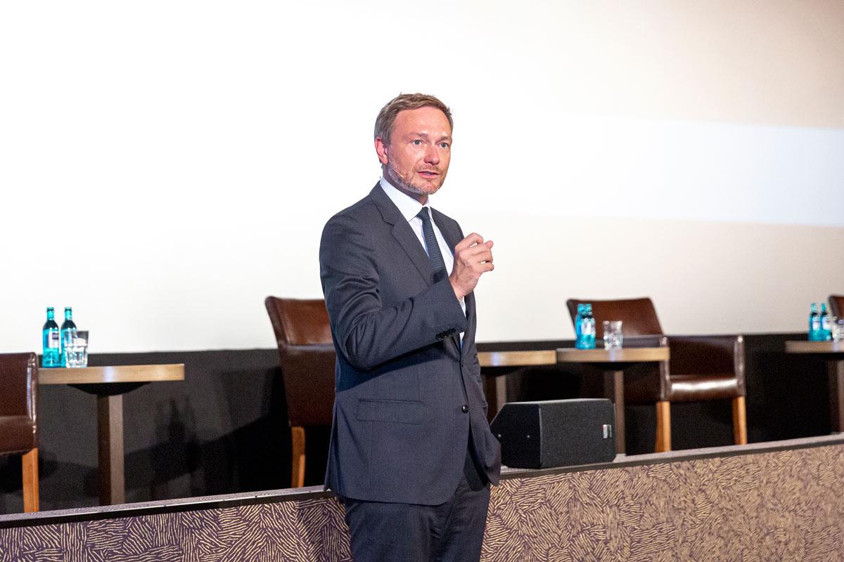 Christian Lindner spricht auf dem Empfang des Niedersächsischen Wirtschaftsrat