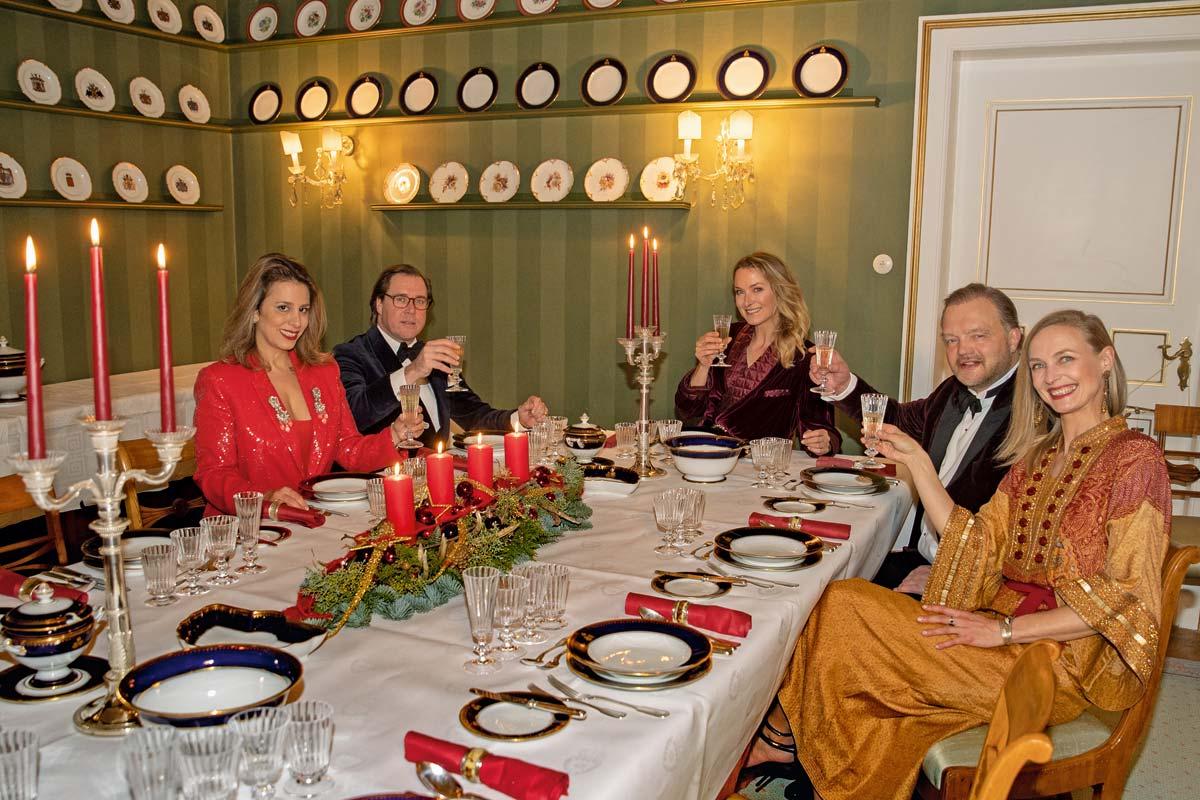 Abendessen an Heiligabend auf Schloss Bückeburg