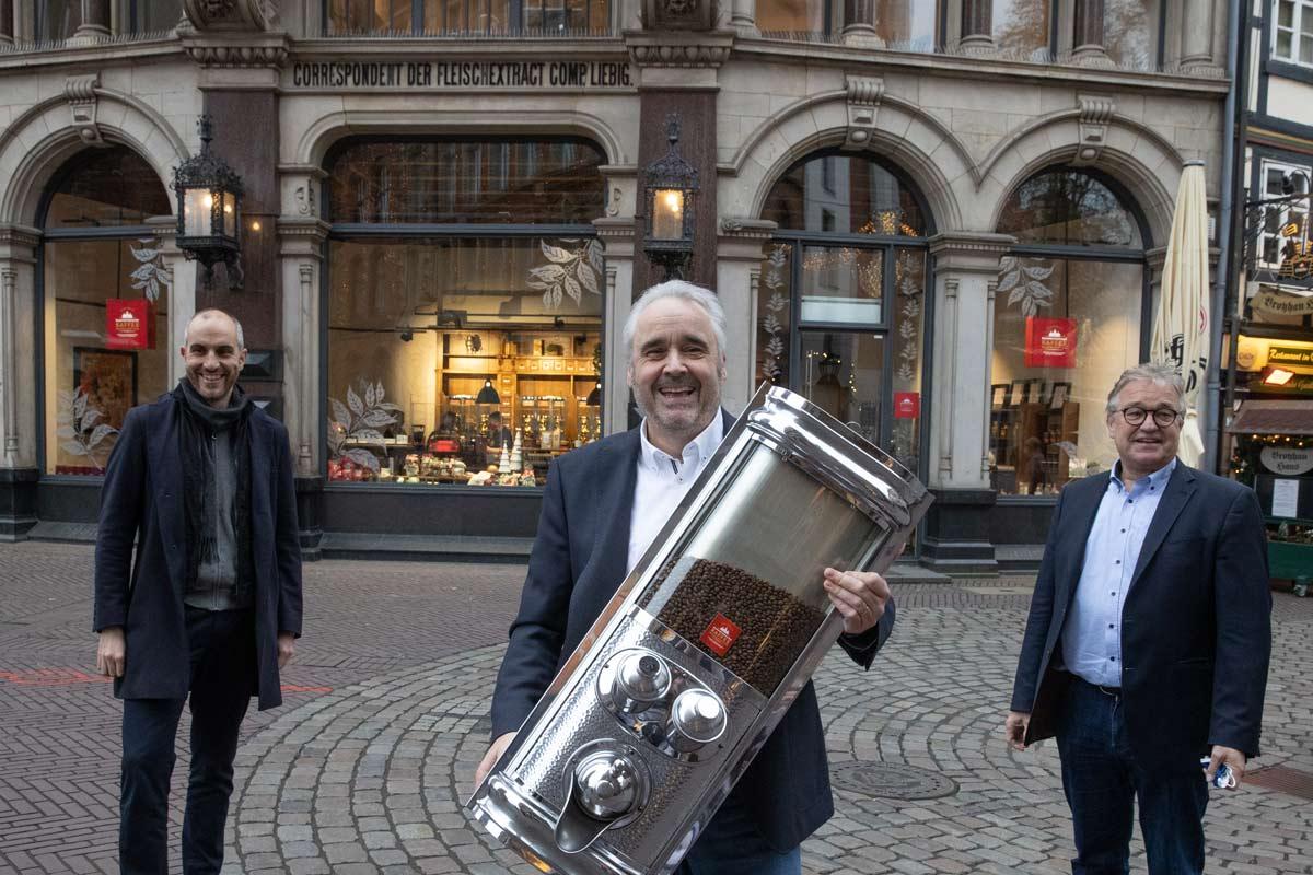 Kaffeemanufaktur Hannover Eröffnung Andreas Berndt und Belit Onay