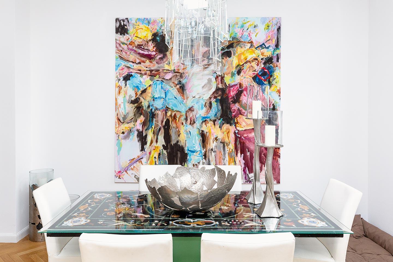 Bei Sandra Simchen zuhause findet man Kunst in jedem Raum