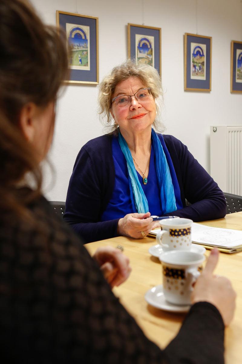 Marleen Gaida und Annegret Becker Baumann im Gespräch