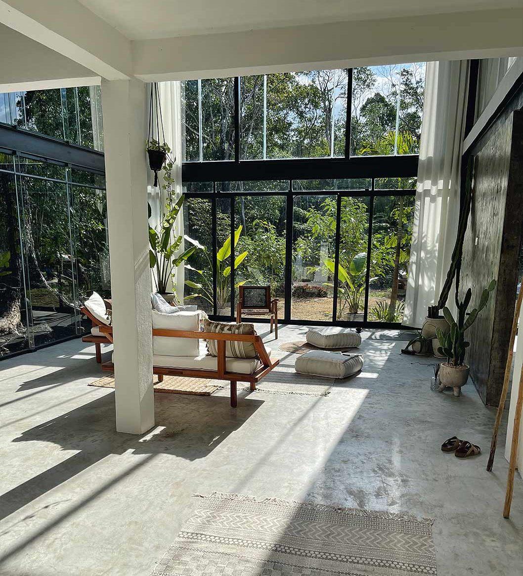 Innenansicht vom autarken Haus von Marisol Prada