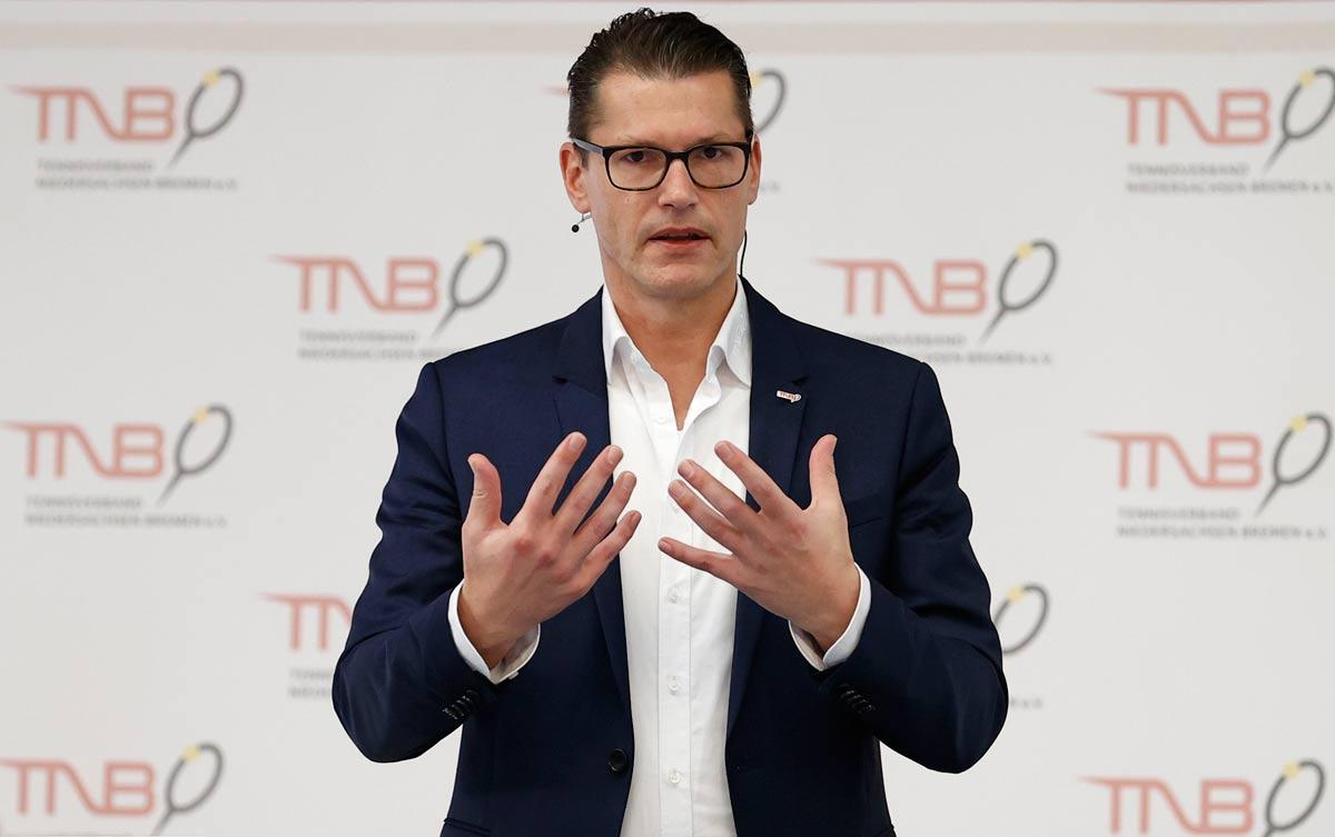 Raik Packeiser bei der Ernennung zum Vizepräsidenten des DTB