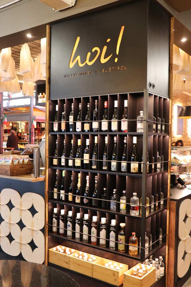 Weinauswahl bei Hoi